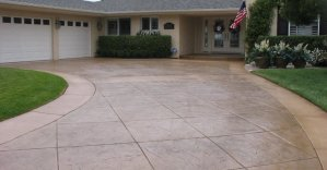 Concrete driveway for the home