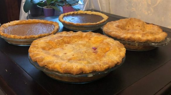 All-butter pie crust pies. Homemade butter pie crust.