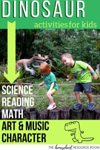 Dinosaur Activities for Kids. Full unit study for kindergarten, preschool, elementary ages.