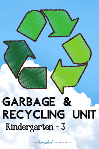 Garbage and recycling unit for K-3! Great hands-on ideas for your Earth Day lesson plans or science unit! #recycling #science #earthday #lessonplans