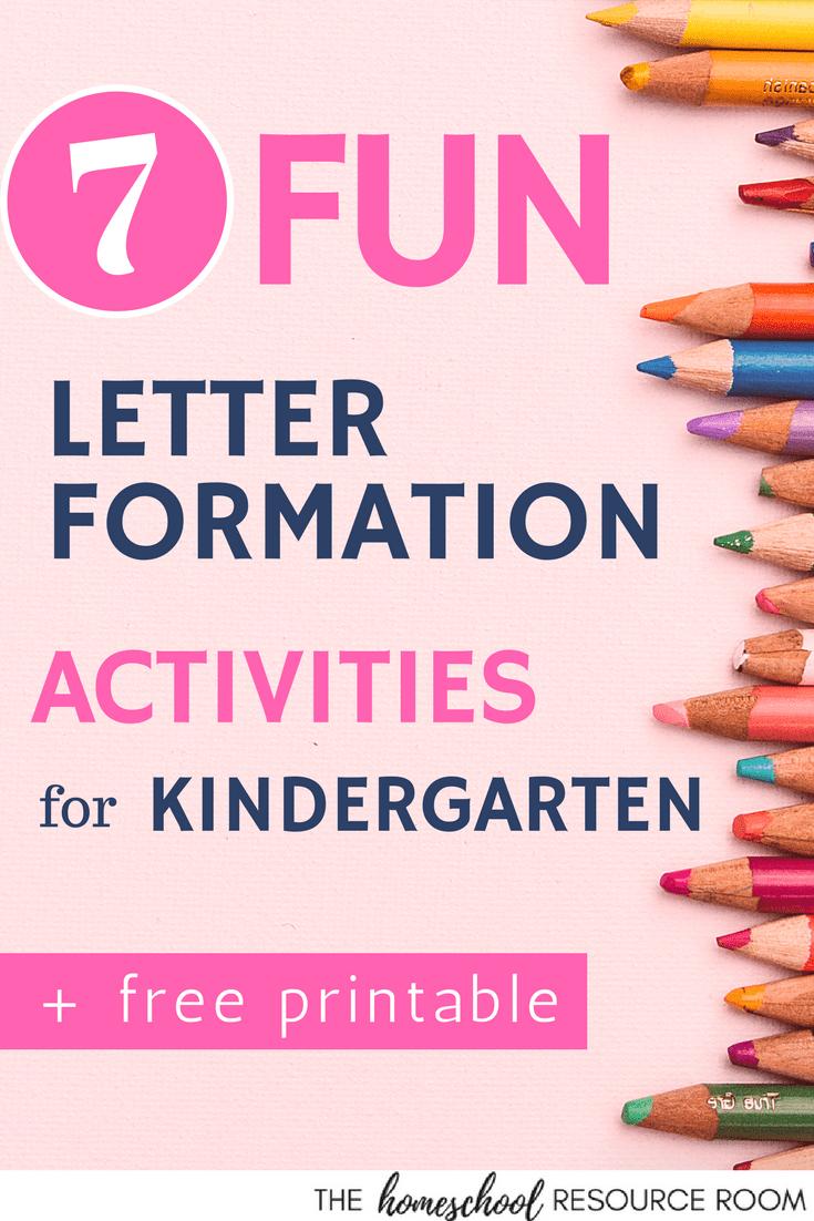 7 FUN Letter Formation Activities for Kindergarten – The Homeschool ...