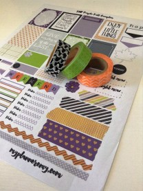 Colorful Fall Stickers for your Planner