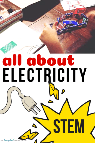 All About Electricity! Electricity lesson plans, introduction to electricity for elementary ages. #stem #science #electricity #lessonplans #unitstudy