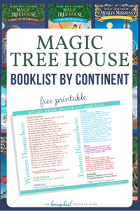 Read Around the World with the Magic Tree House Map! Free booklist by continent with original series 1-55 books listed by continent.
