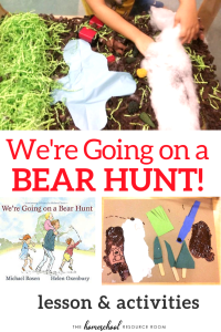 We're Going on a Bear Hunt activities for preschool and primary grades. Your kids will love these hands-on bear hunt activities! Full and FREE unit study!