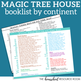 Magic Tree House Book List by Continent