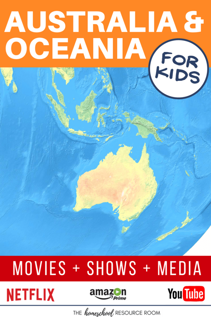 Oceania and Australia for kids! Movies, shows, playlists, and links to supplement your Continent Study.