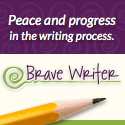 Brave Writer button