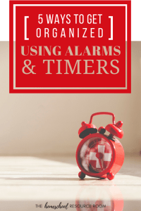 Get organized FAST with alarms and timers!
