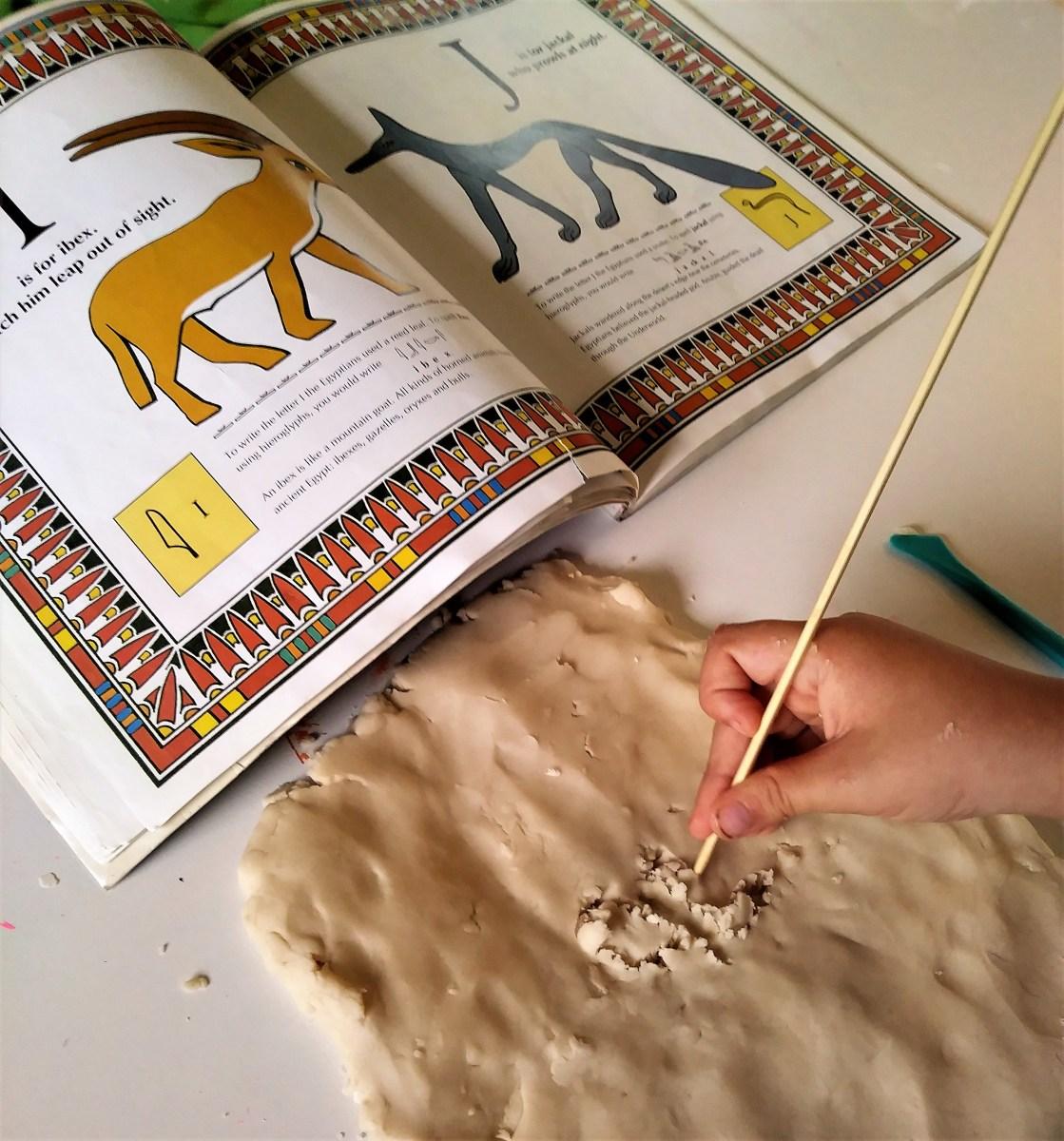 Carve hieroglyphics