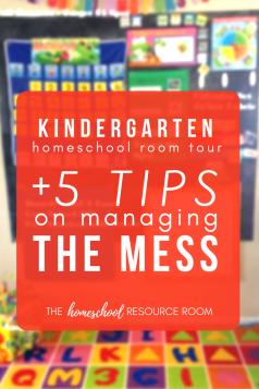 Kindergarten homeschool room
