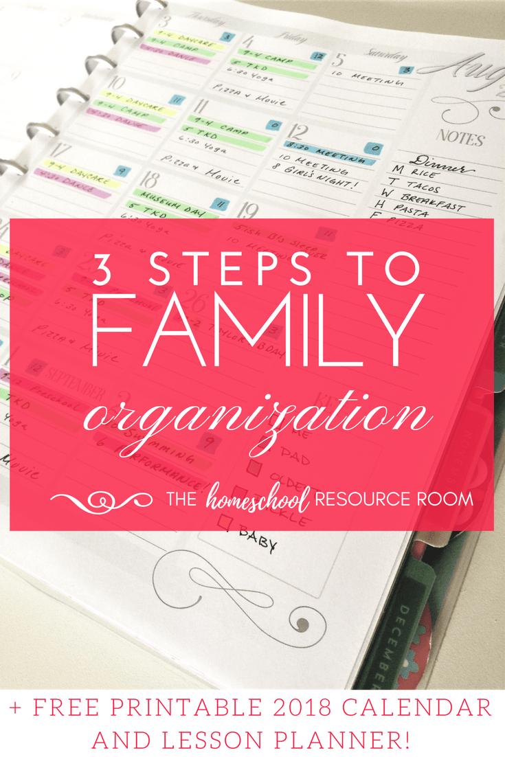 2019 Family Organization Calendar! Get Organized TODAY!