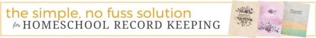 Homeschool Portfolio_ the simple, no fuss solution for homeschool record keeping.