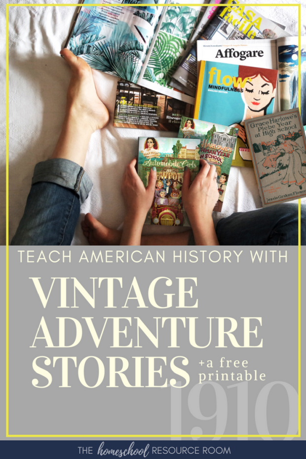 Vintage adventure books for girls from Aunt Claire Presents