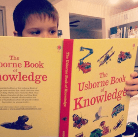 Reading the Usborne Book of Knowledge for science
