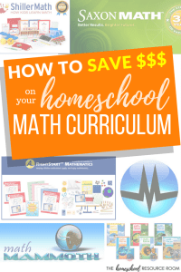 How to save on homeschool curriculum: the very best prices for core math text books, online, and hands-on homeschool materials and manipulatives.