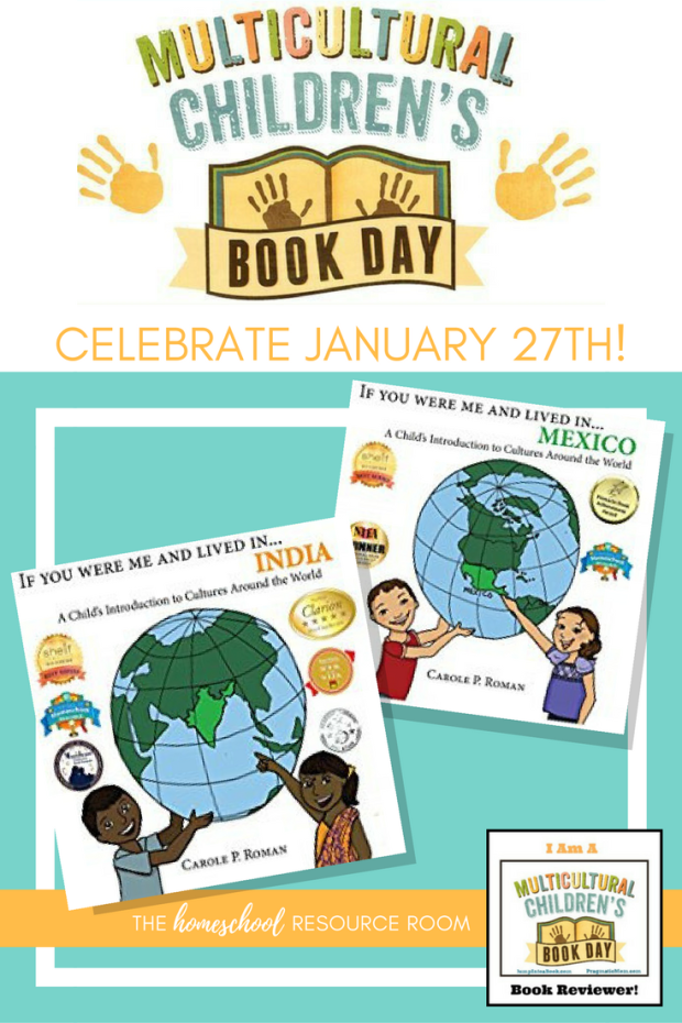 "Celebrate Multicultural Children's Book Day January 27th! Introducing award winning author, Carole P. Roman and her series ""If You Were Me and Lived in..."" highlighting cultures and countries around the world! Appropriate for preschool, kindergarten."