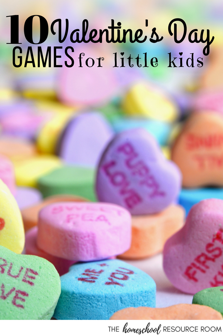 Valentine's Day games for kids - add some fun to your lesson plans for Valentine's Day.