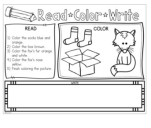 Fox in Socks Activities - free printable activity sheet
