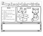 Fox in Socks Activities - free printable activity sheet