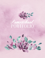 Homeschool Portfolio - Watercolor Floral Design