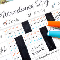 The EASY Solution for Homeschool Attendance Records + Free Tracker