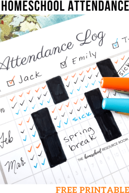 Homeschool Attendance Record Free Printable Attendance Log