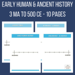 Early Man / Ancient History Timeline