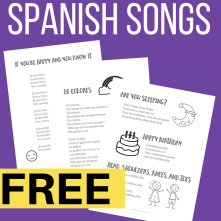 Easy Spanish Songs to Sing for Kids