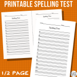 Printable Spelling Test