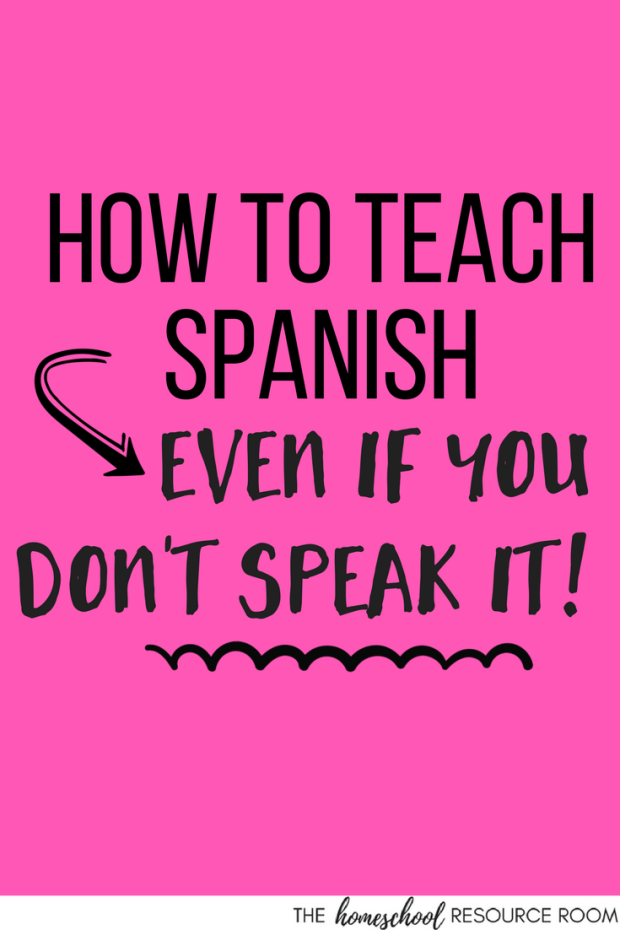 How to teach Spanish - even when you don't speak it! 3 tips for parents who don't speak Spanish. You CAN do it!!!
