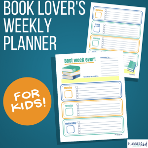 Book Lovers Weekly Planner for Kids
