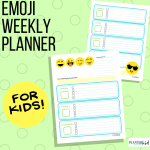 Emoji Weekly Planner for Kids