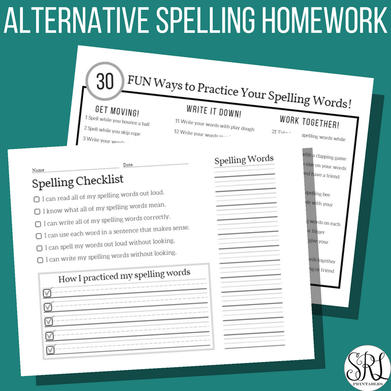 Alternative Spelling Homework