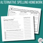 Alternative Spelling Homework