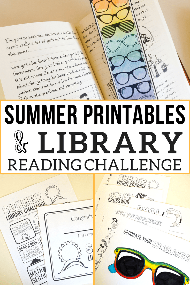 24 Pages of Summer Printables PLUS a fun Library Reading Challenge for summer! Stop the summer slide with a bit of fun practice. Distribute these at your library, camp, co-op, or in your own homeschool for fun summer literacy practice!