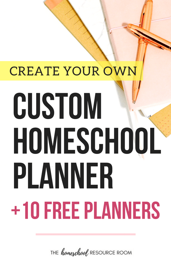 Create your own Free Homeschool Planner with printables and this simple guide.