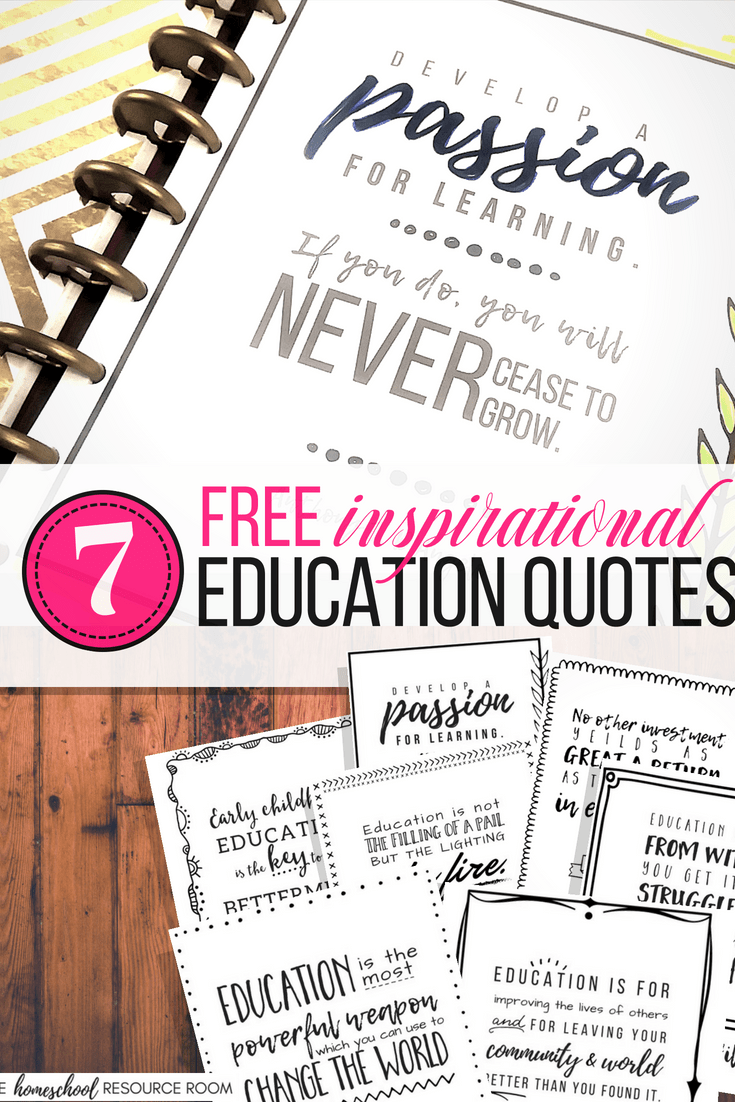 Free Printable Education Quotes to Inspire You