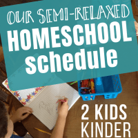 Homeschool Schedule: 2 Kids and a Semi-relaxed Routine