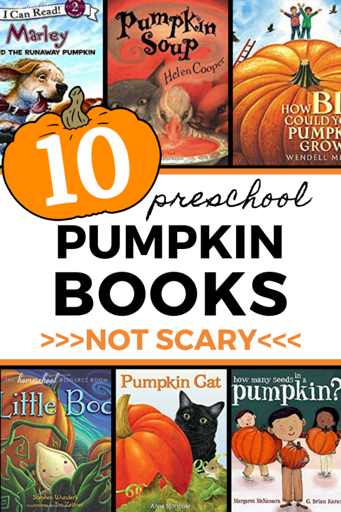10 NOT scary pumpkin books for preschoolers! Friendly fun for Halloween! #booklist #picturebooks #halloween #preschool