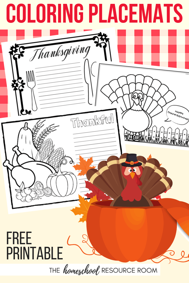 Free Thanksgiving Placemats for Kids: 10 FUN Designs