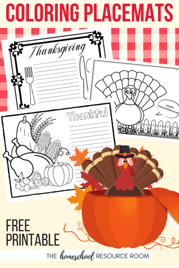 Pick up 10 FREE Thanksgiving Placemats for Kids. Color and write on these adorable coloring placemats.