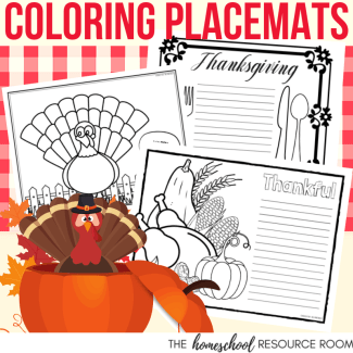 Thanksgiving Placemats for Kids