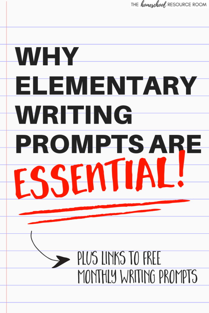 Find out why elementary writing prompts are ESSENTIAL to engaging and growing young writers. Plus grab links to 12 months of free writing prompt calendars!