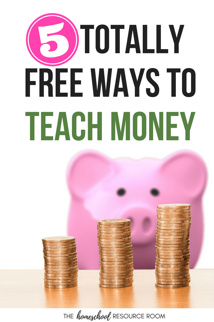 5 Totally free ideas for teaching money at home. Hands-on money activities for children, learning money in the world. #money #math #elementary