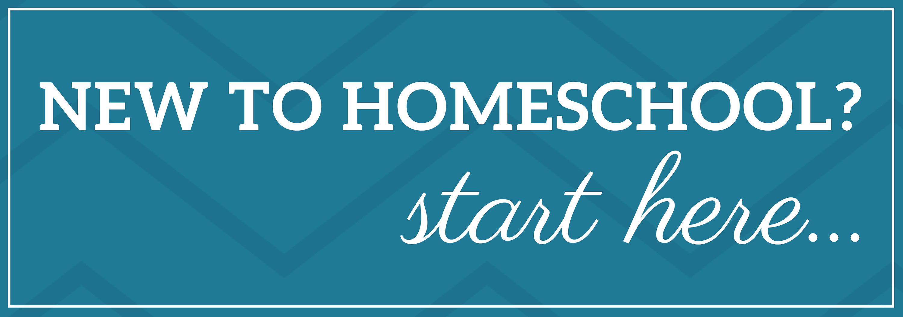New to homeschooling