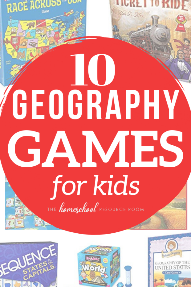 10 FUN Geography Games for Kids - US and World Geography board games, card and trivia, and apps. #geography #games #fun #learning #education