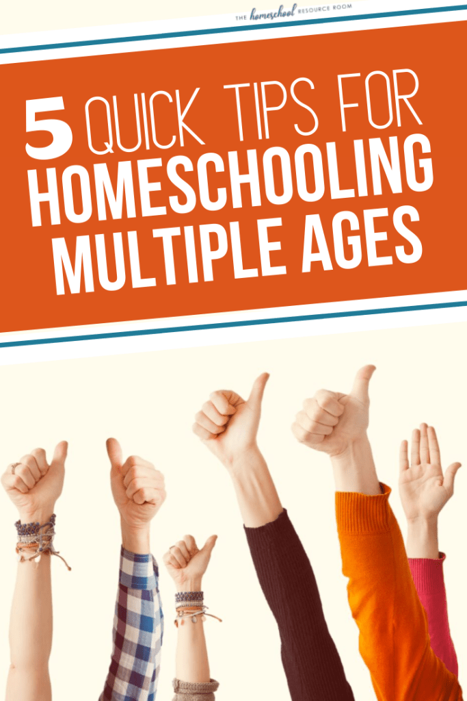 Multigrade teaching in your homeschool: 4 quick tips for teaching your big family from a mom of 7! #homeschooling #largefamily
