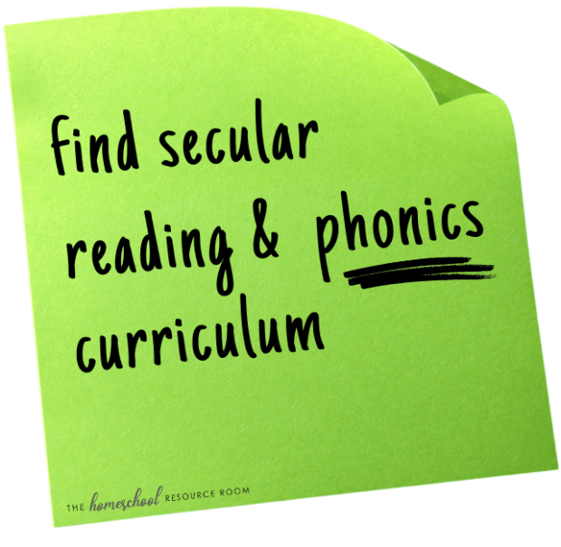 secular reading curriculum for homeschool
