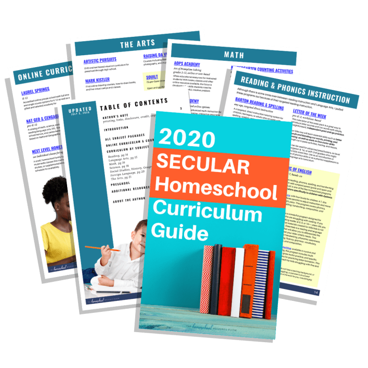 Secular Homeschool Curriculum Guide